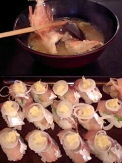 みかんと小鯵寿司。